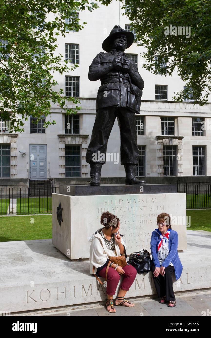 Statua del Visconte Slim, Whitehall, Westminster, London, England, Regno Unito Immagini Stock
