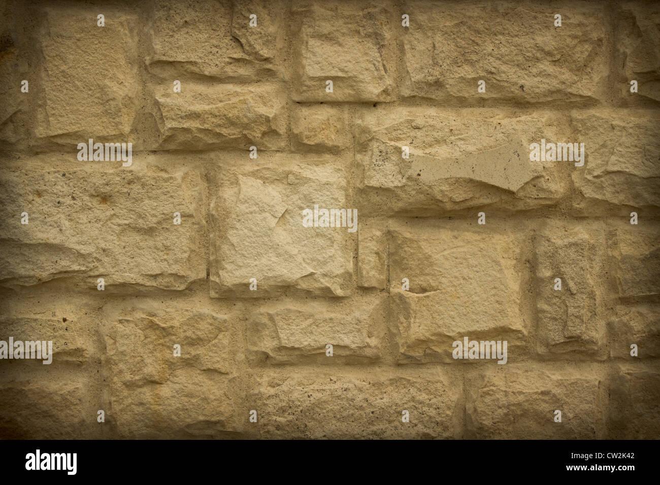 Il vecchio muro di pietra può utilizzare come nice background testurizzata Immagini Stock