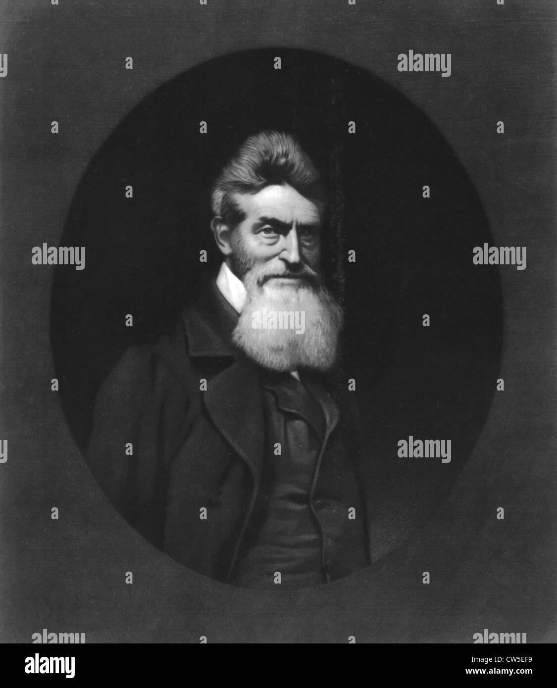 John Brown (1800-1859), slave condannato a morte e appeso Immagini Stock