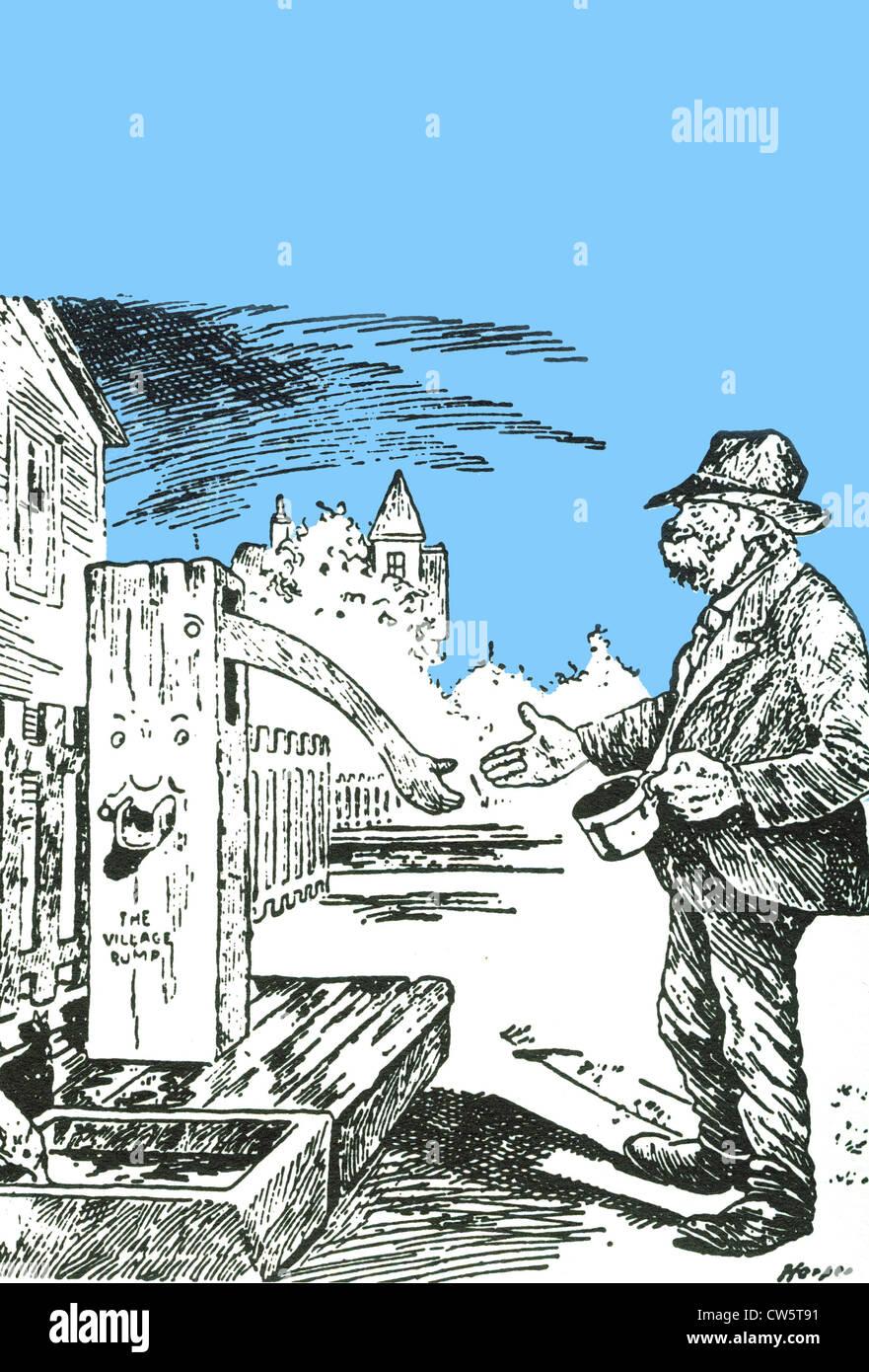 Fumetto americano dalla Grande Depressione Immagini Stock