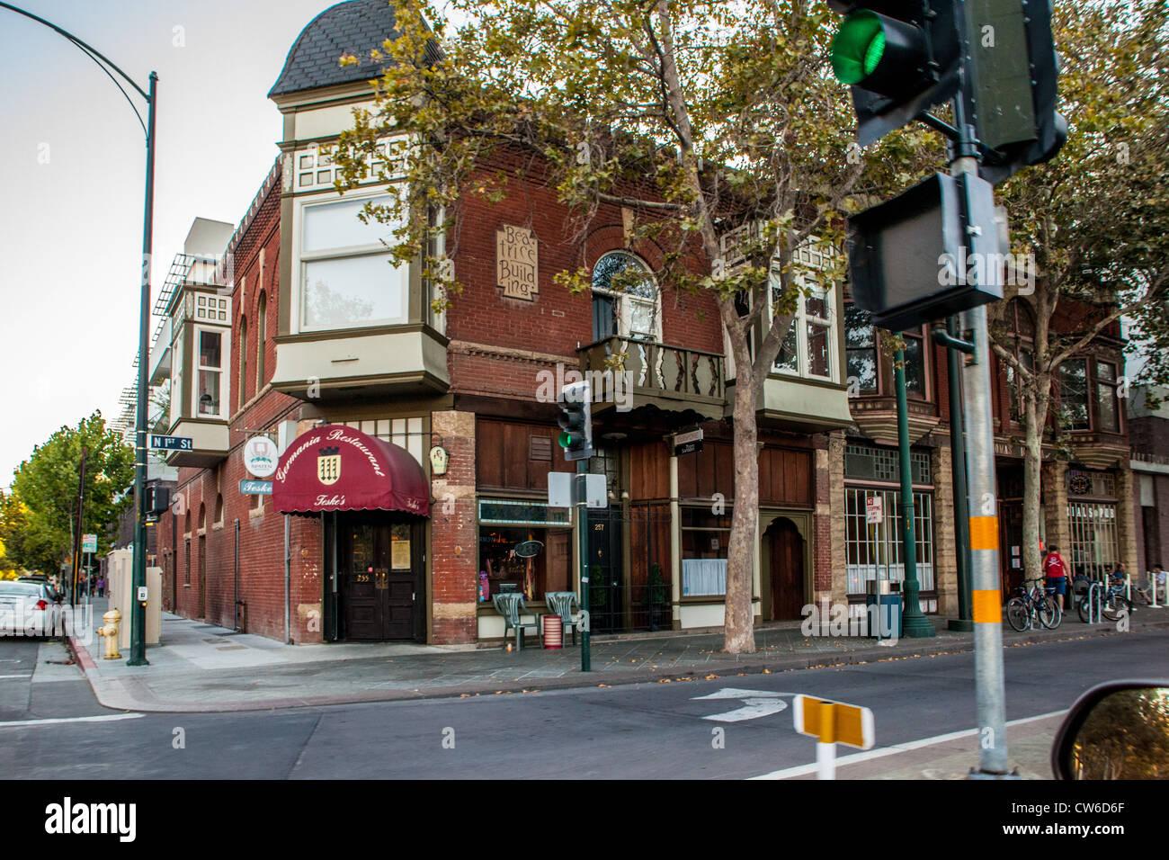Teske la Germania ristorante a San Jose California sulla prima strada Immagini Stock