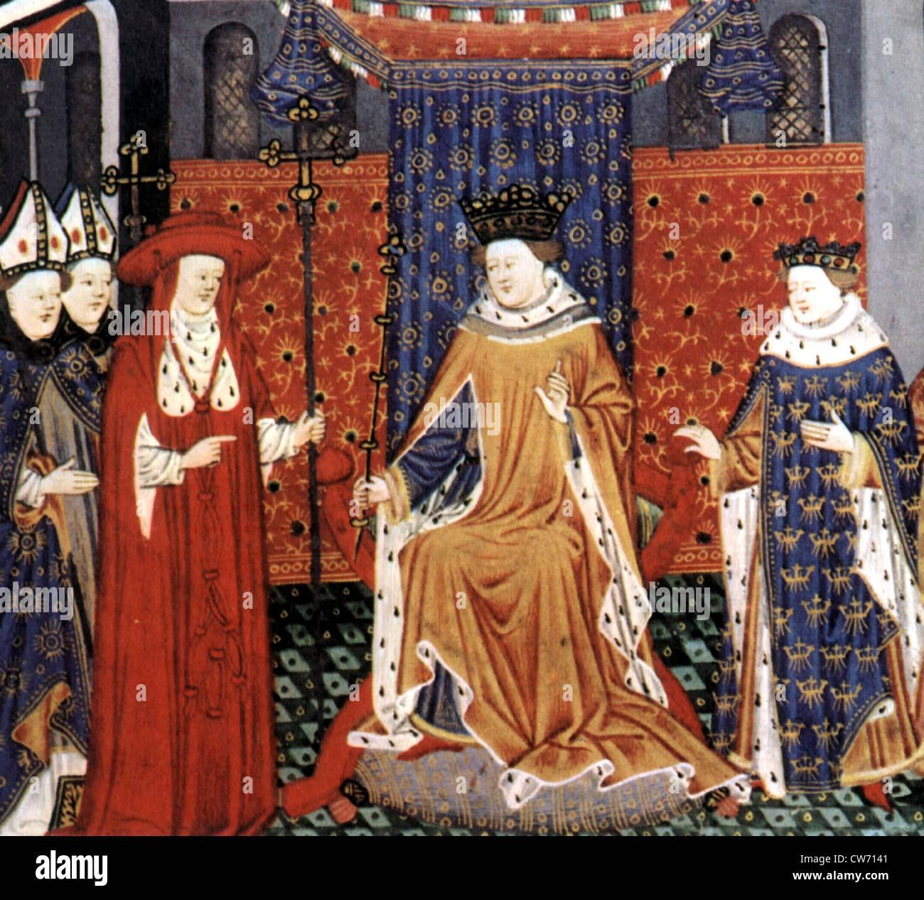 Nobiltà nel XV secolo Immagini Stock