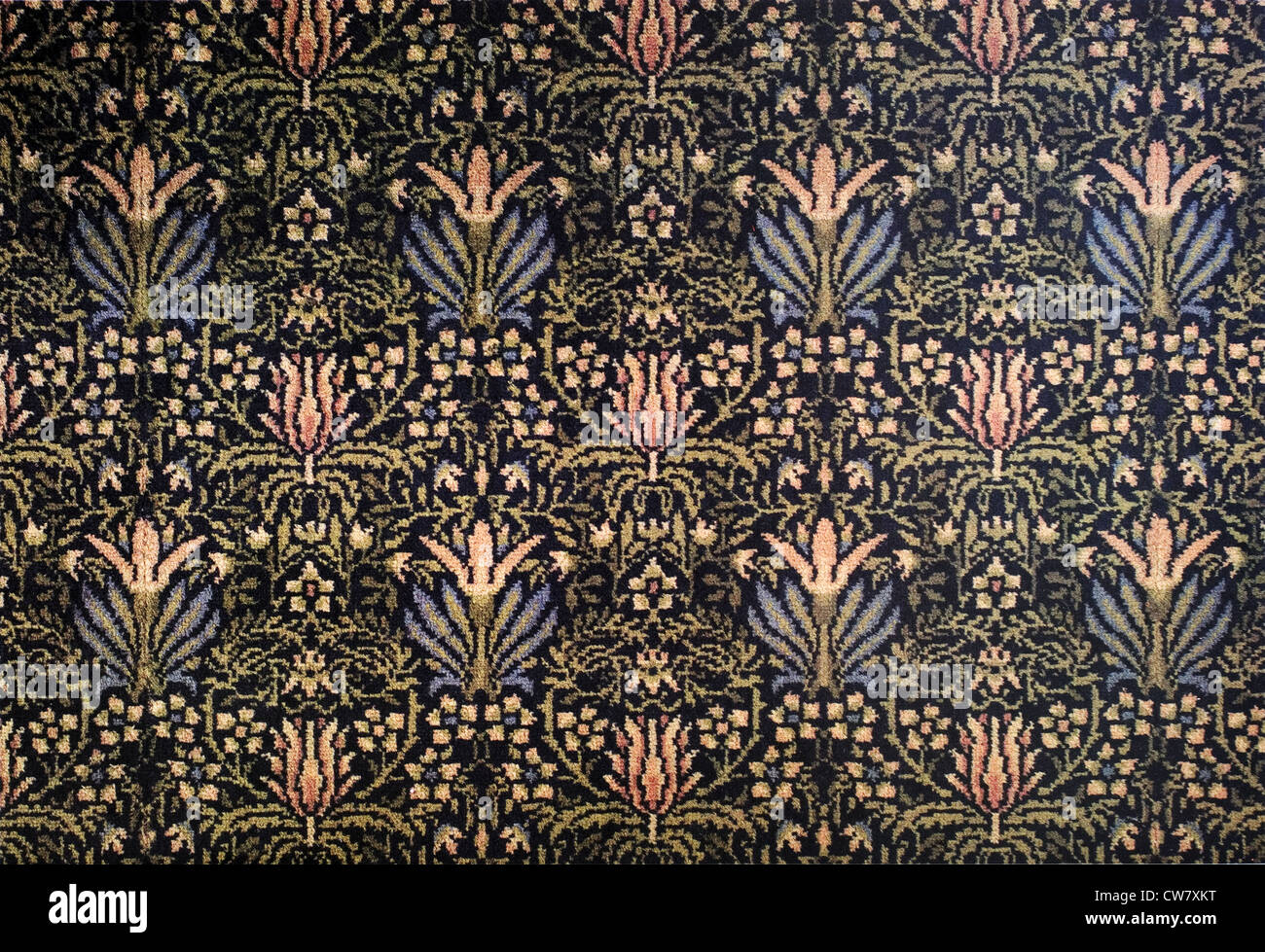 Golden fronda tessuto tessile Immagini Stock