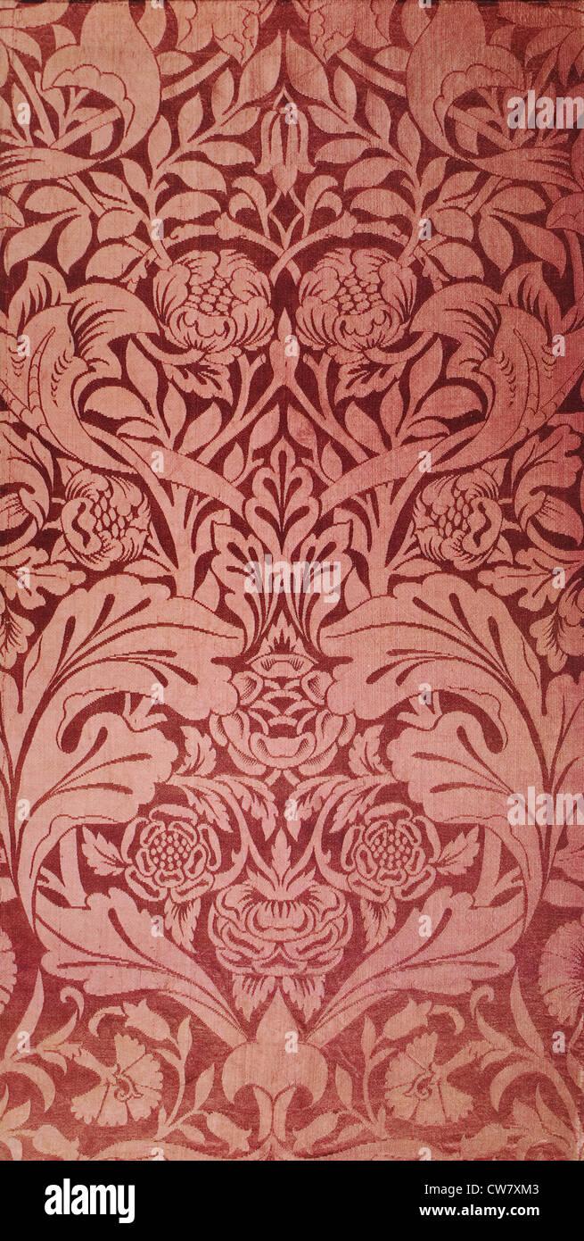 Colomba e Rose tessuto tessile Immagini Stock