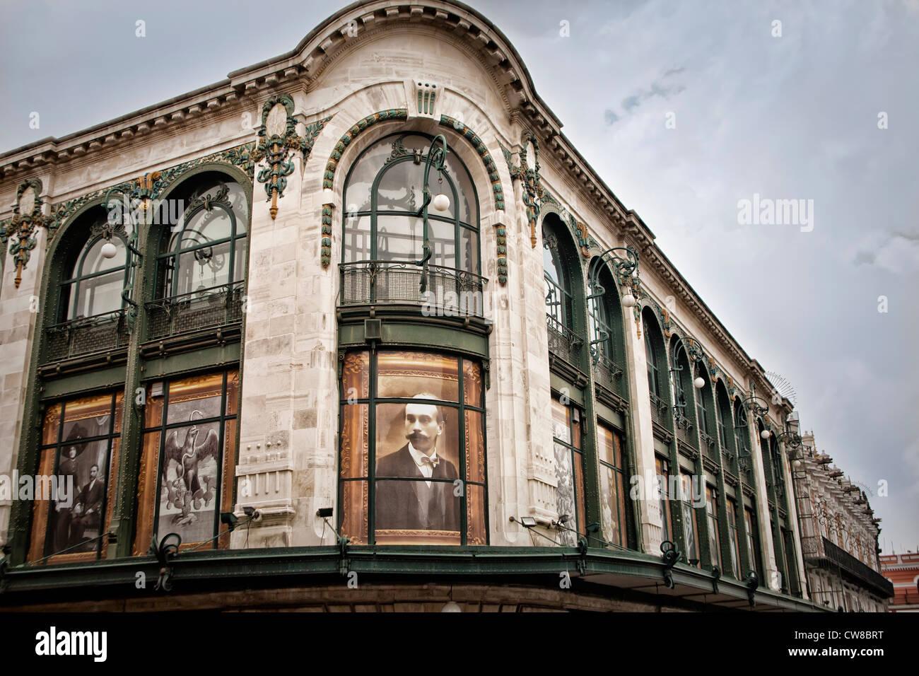 Architettura nel centro cittadino di Puebla, Messico Immagini Stock