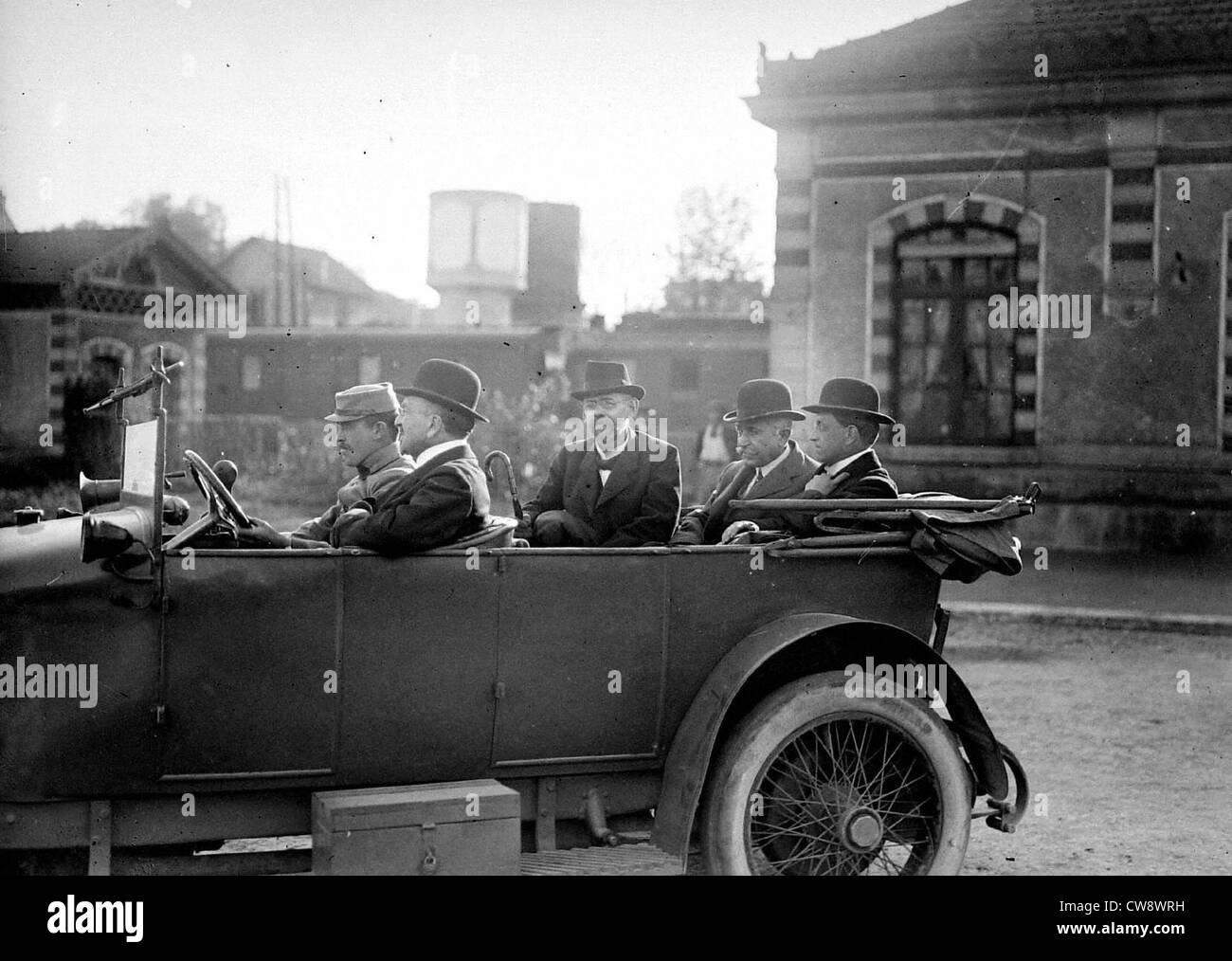 Trattato Saint-Germain arrivo delegazione austriaca Immagini Stock