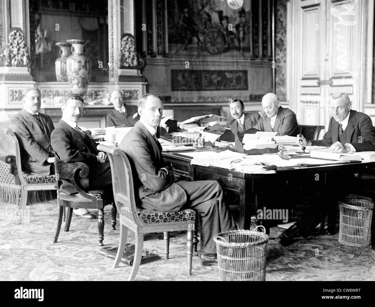 Comitato di redazione del trattato di Saint-Germain Immagini Stock
