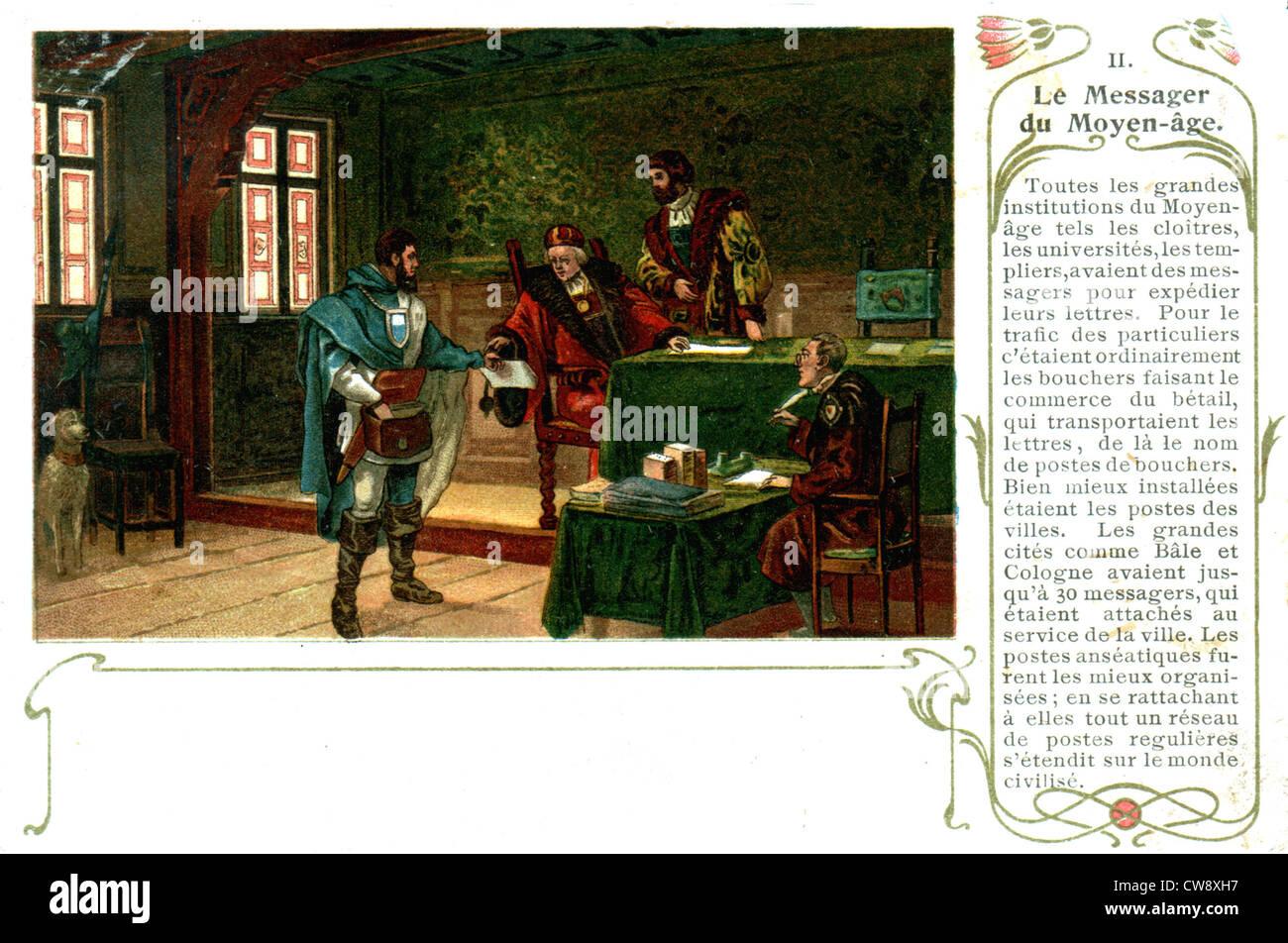 Messenger del Medioevo Immagini Stock