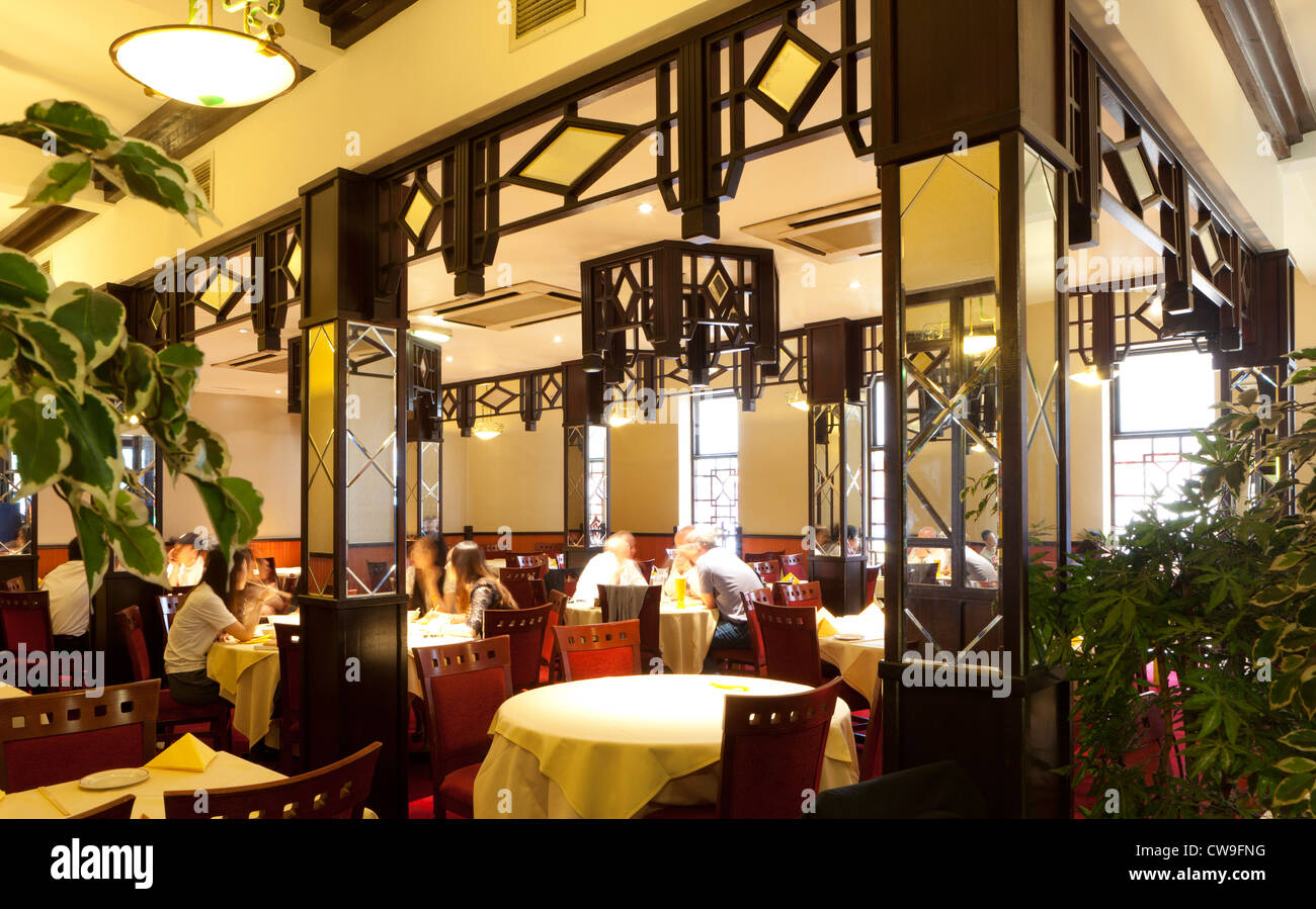 Chung Ying ristorante Cinese, quartiere cinese, Birmingham, West Midlands, England, Regno Unito Immagini Stock