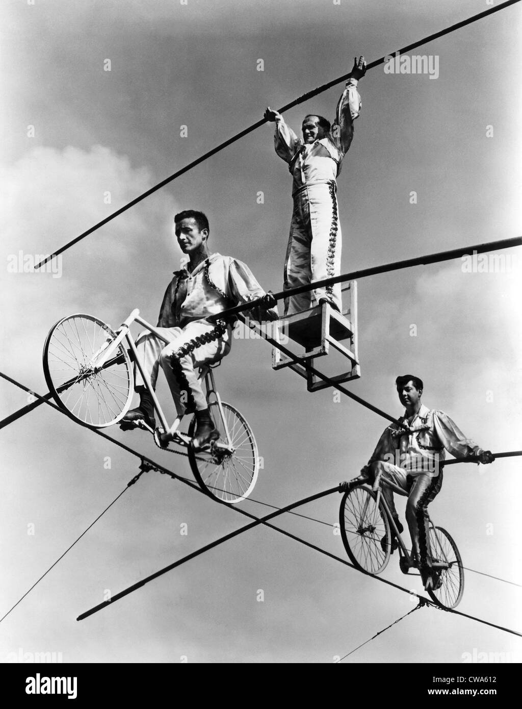Il Flying Wallendas, 1967.. La cortesia: CSU Archivi / Everett Collection Immagini Stock