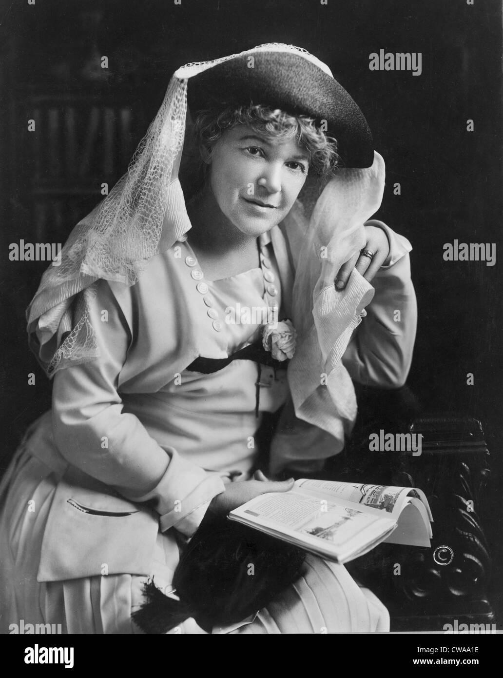 Ella Wheeler Wilcox (1854-1919), scrittore e poeta le cui opere popolari incorporato una religione Vittoriano, morale, Immagini Stock