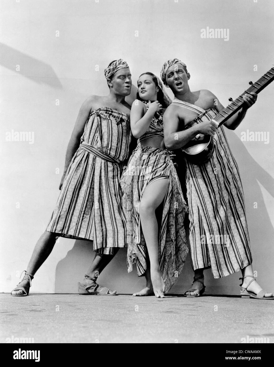 Strada DI SINGAPORE, Bob Hope, Dorothy Lamour, Bing Crosby, 1940.. La cortesia: CSU Archivi / Everett Collection Immagini Stock