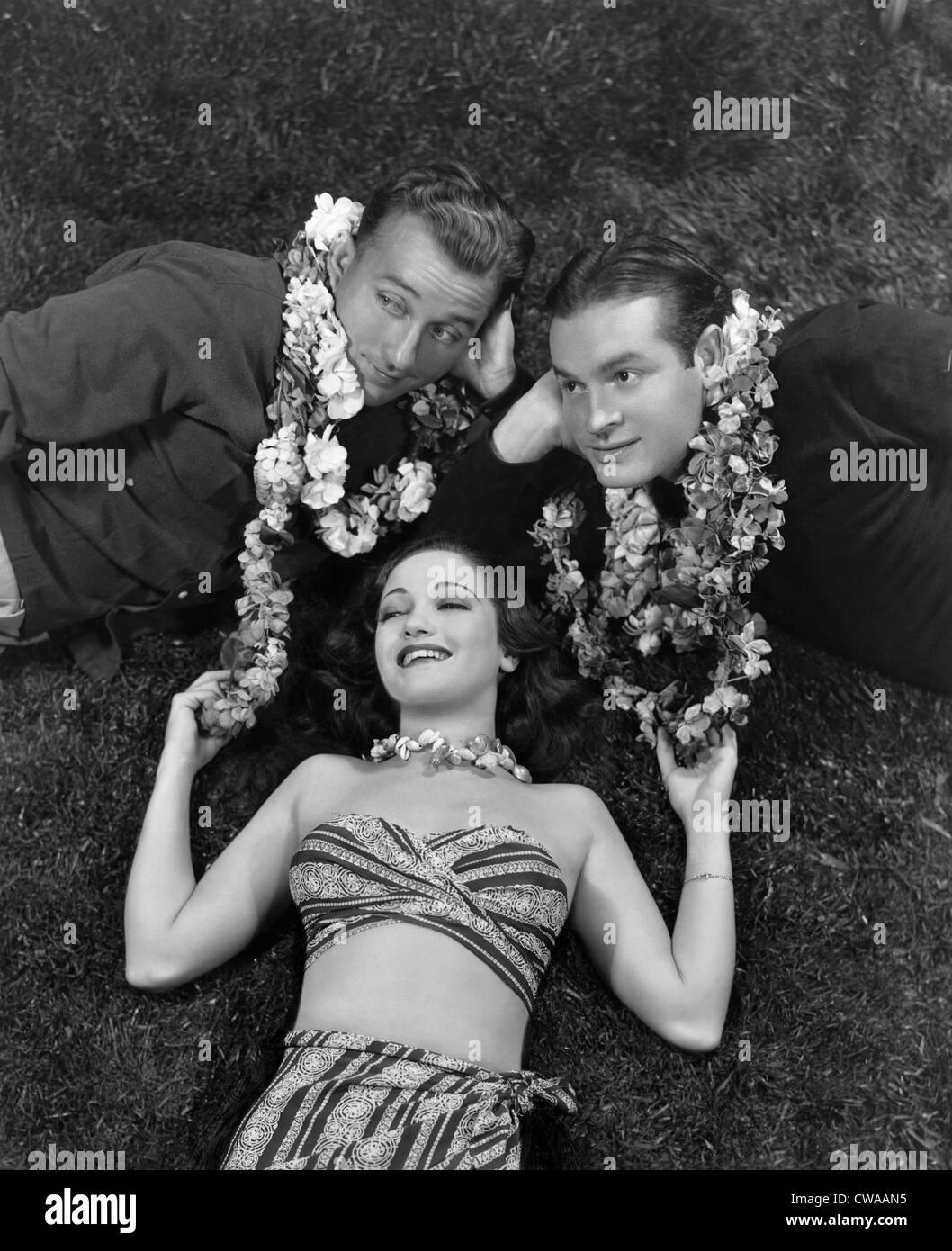 Strada DI SINGAPORE, Bing Crosby, Dorothy Lamour, Bob Hope, 1940.. La cortesia: CSU Archivi / Everett Collection Immagini Stock