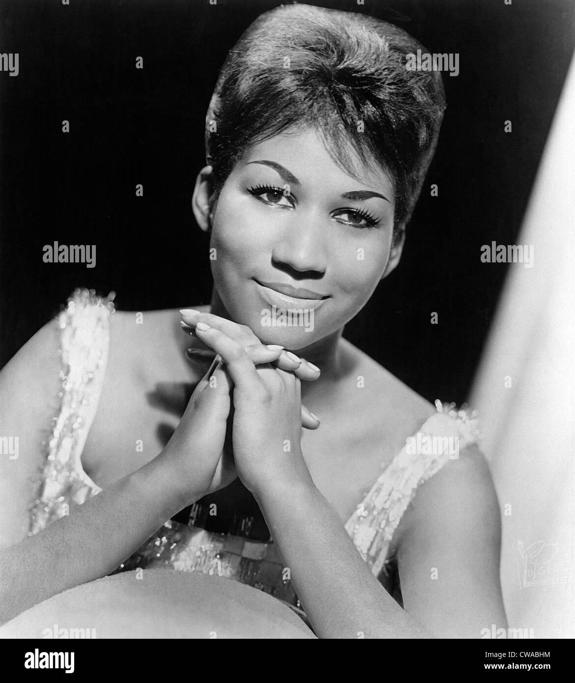 ARETHA FRANKLIN, 1964, Columbia Records pubblicità ritratto. Archivi CSU/Everett collezione. Immagini Stock