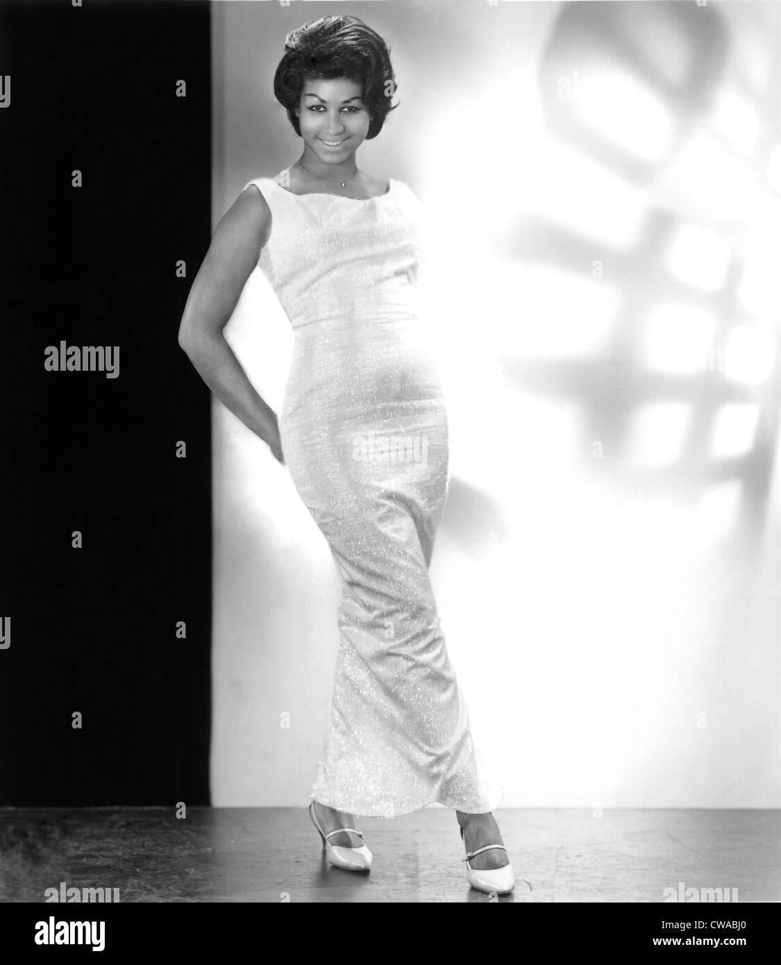 ARETHA FRANKLIN, 1965, Columbia Records pubblicità ritratto. Archivi CSU/Everett collezione. Immagini Stock