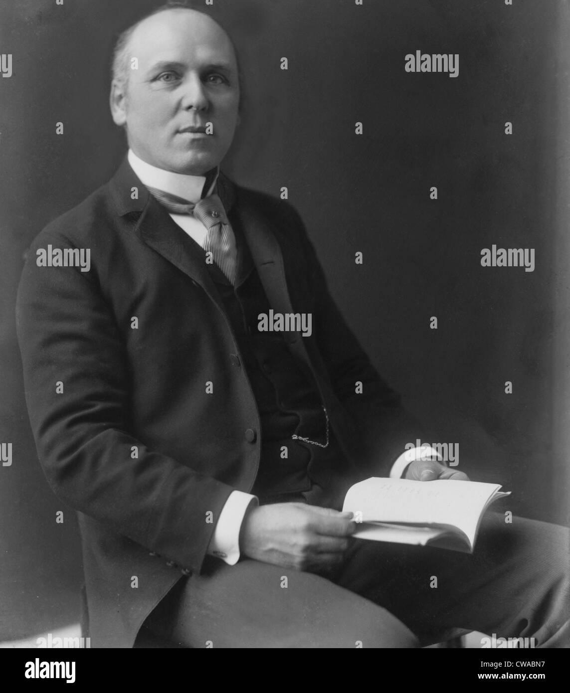 Howard Pyle (1853-1911) lo scrittore americano, pittore e illustratore, ha scritto e illustrato libri per bambini, Immagini Stock