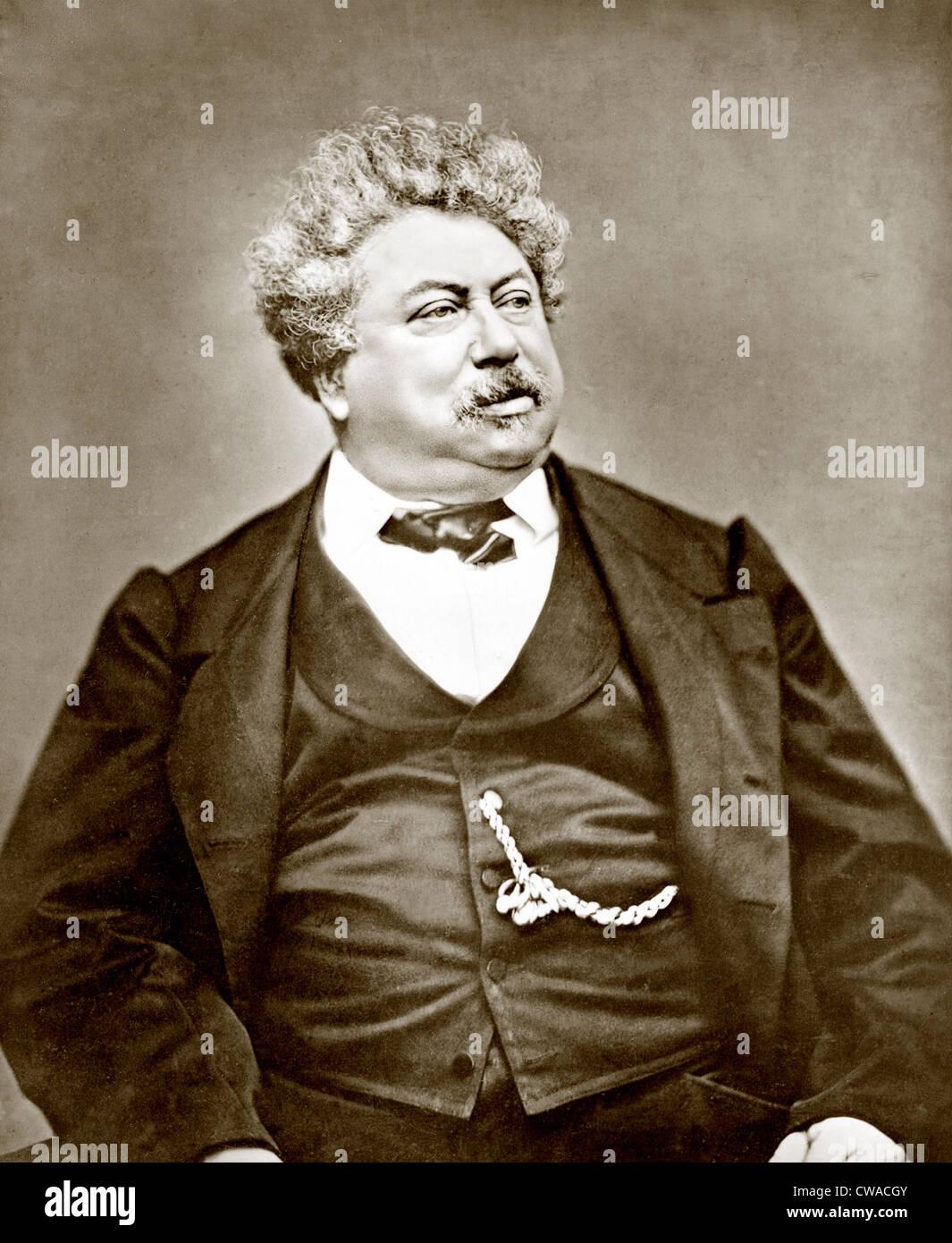 Alexandre Dumas père (1802-1870) famoso drammaturgo francese e romanziere storico, meglio conosciuto come l'autore Immagini Stock