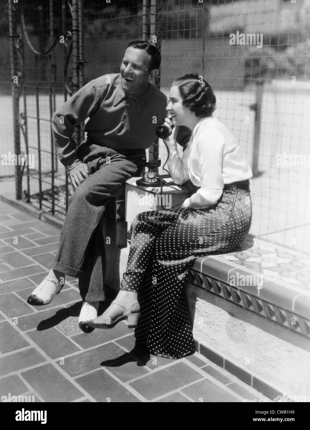 George Burns e Gracie Allen, 1936 Immagini Stock