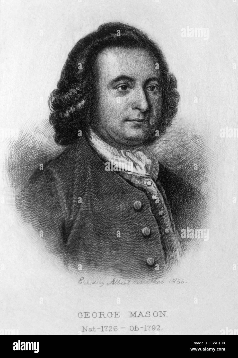 George Mason (1725-1792) Immagini Stock