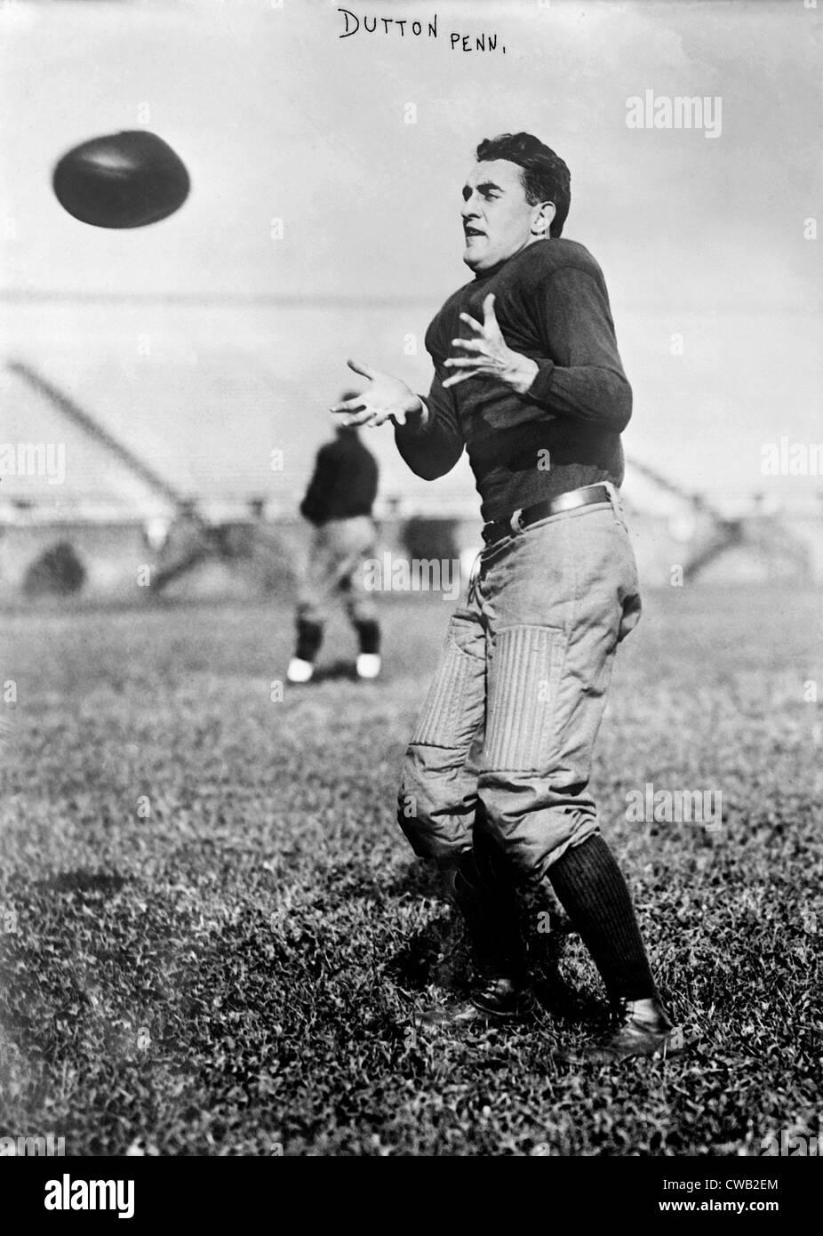 Calcio, Dutton, University of Pennsylvania, circa 1910-1915. Immagini Stock