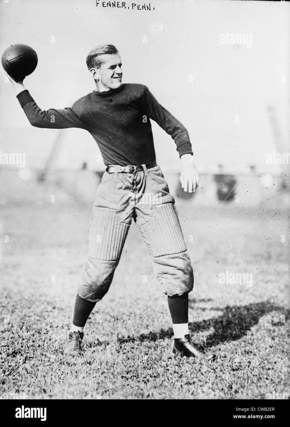 Calcio, Fenner, University of Pennsylvania, circa 1910-1915. Immagini Stock