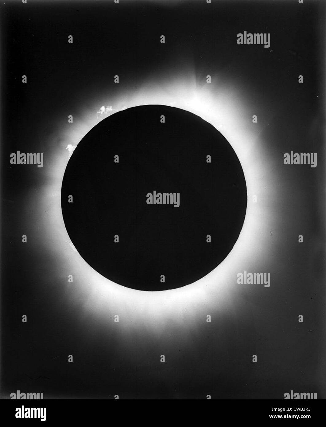 Astronomia. Un eclissi solare, 1926 Immagini Stock