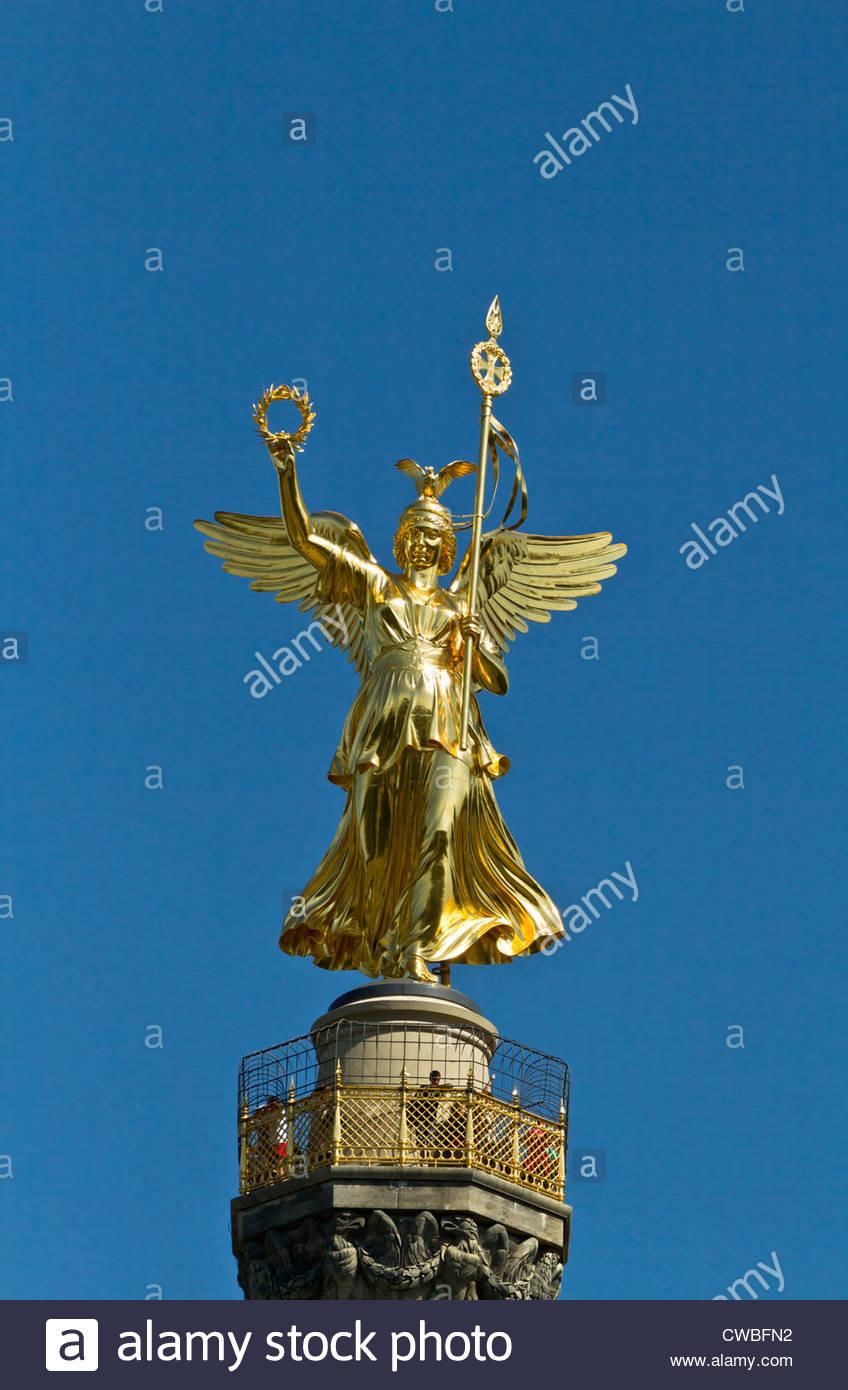 La colonna della vittoria di Berlino Immagini Stock