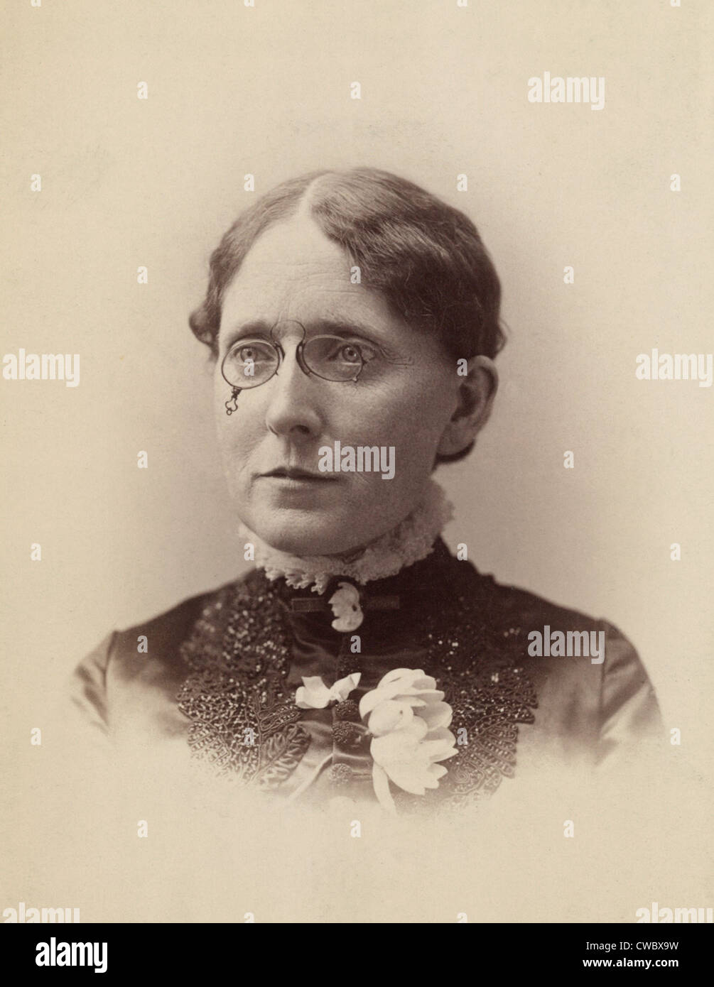 Frances Willard (1839-1898), American temperance reformer, e donna suffragist chi era influente nel passaggio della Immagini Stock