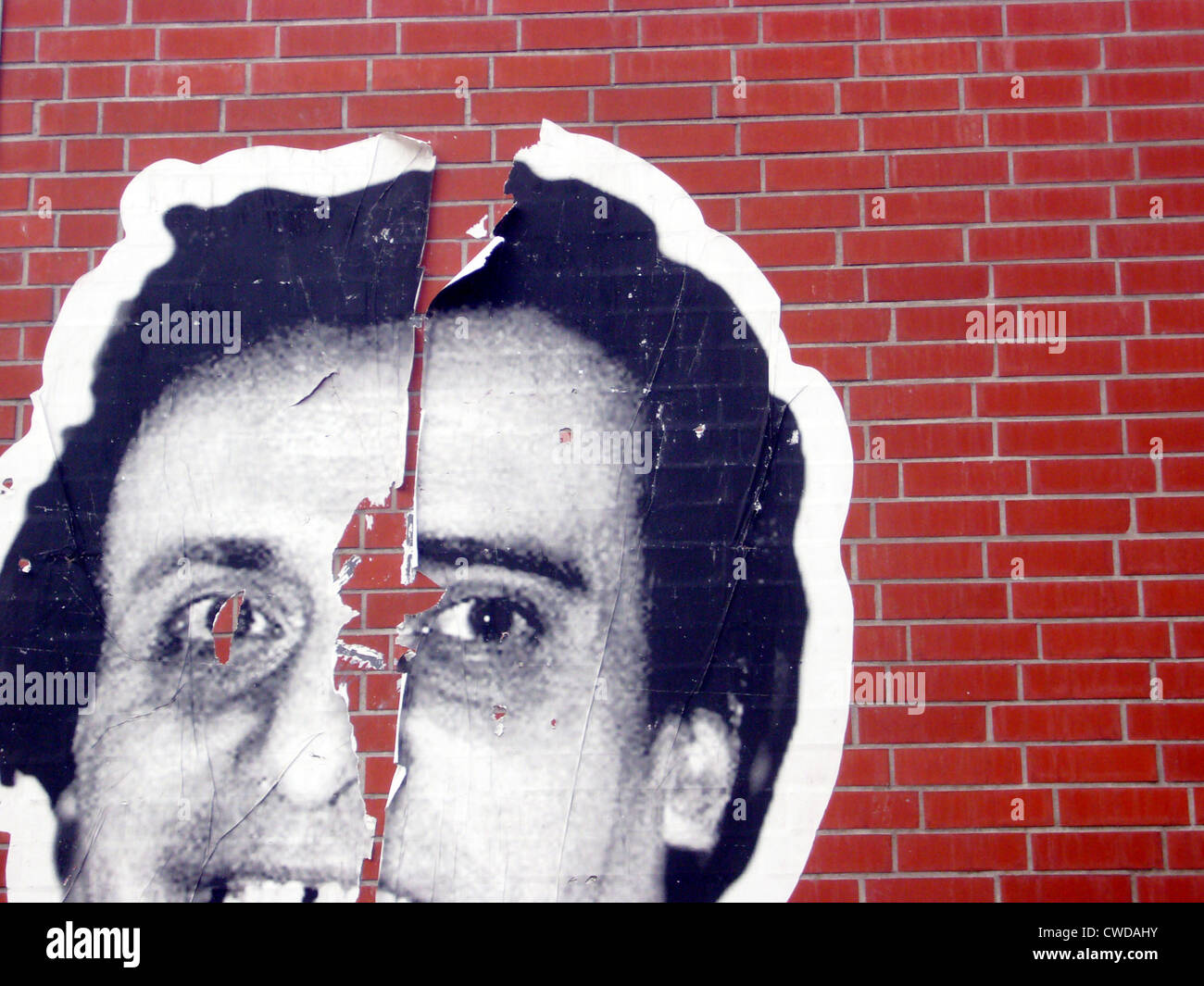 Strappata,poster,streetart Immagini Stock