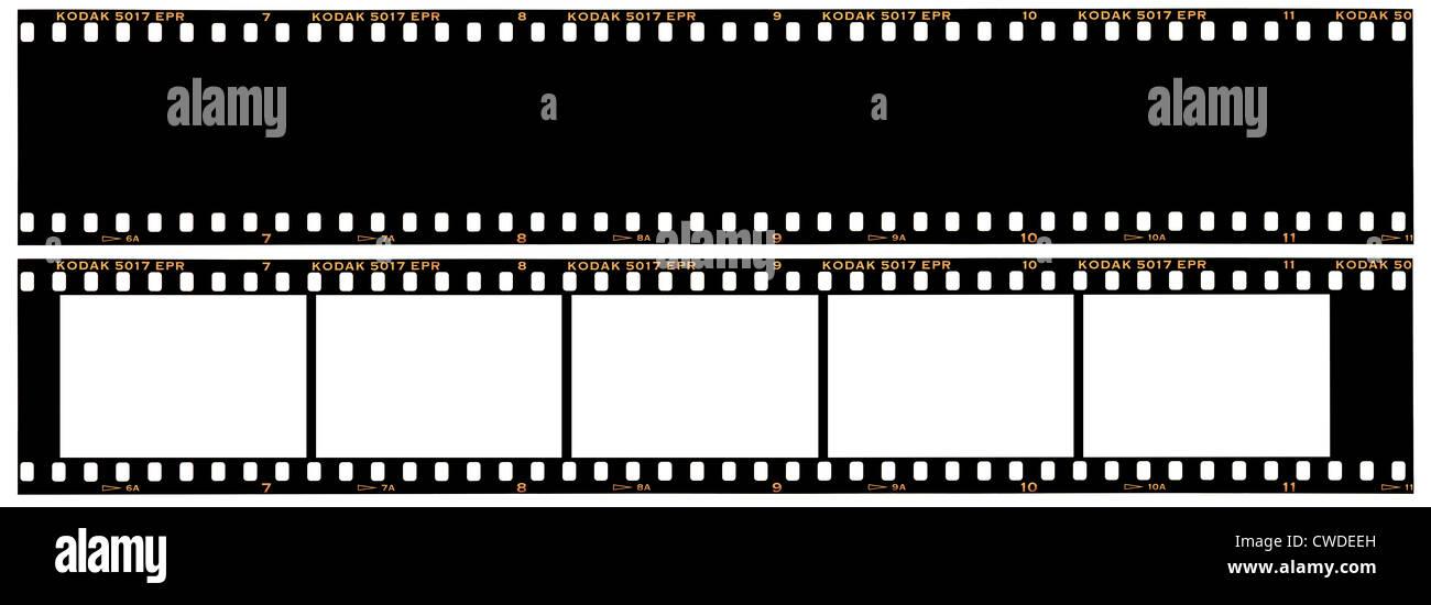 35mm la striscia del film sconti 1 versione mostra cornici & 1 come base nera. Kodak Ektachrome EPR film viene Immagini Stock