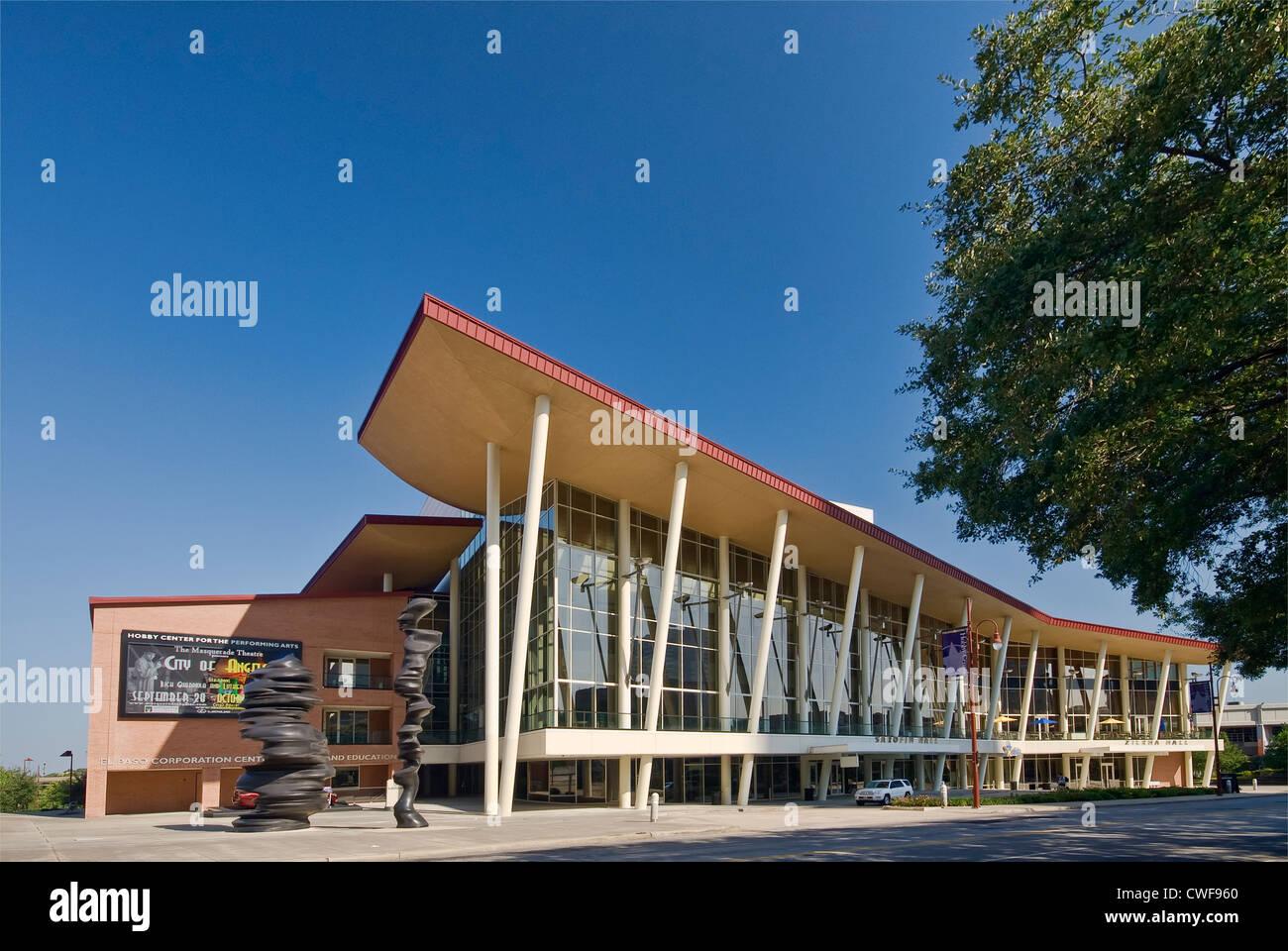 Hobby Center performance center, il centro cittadino di Houston, Texas Immagini Stock