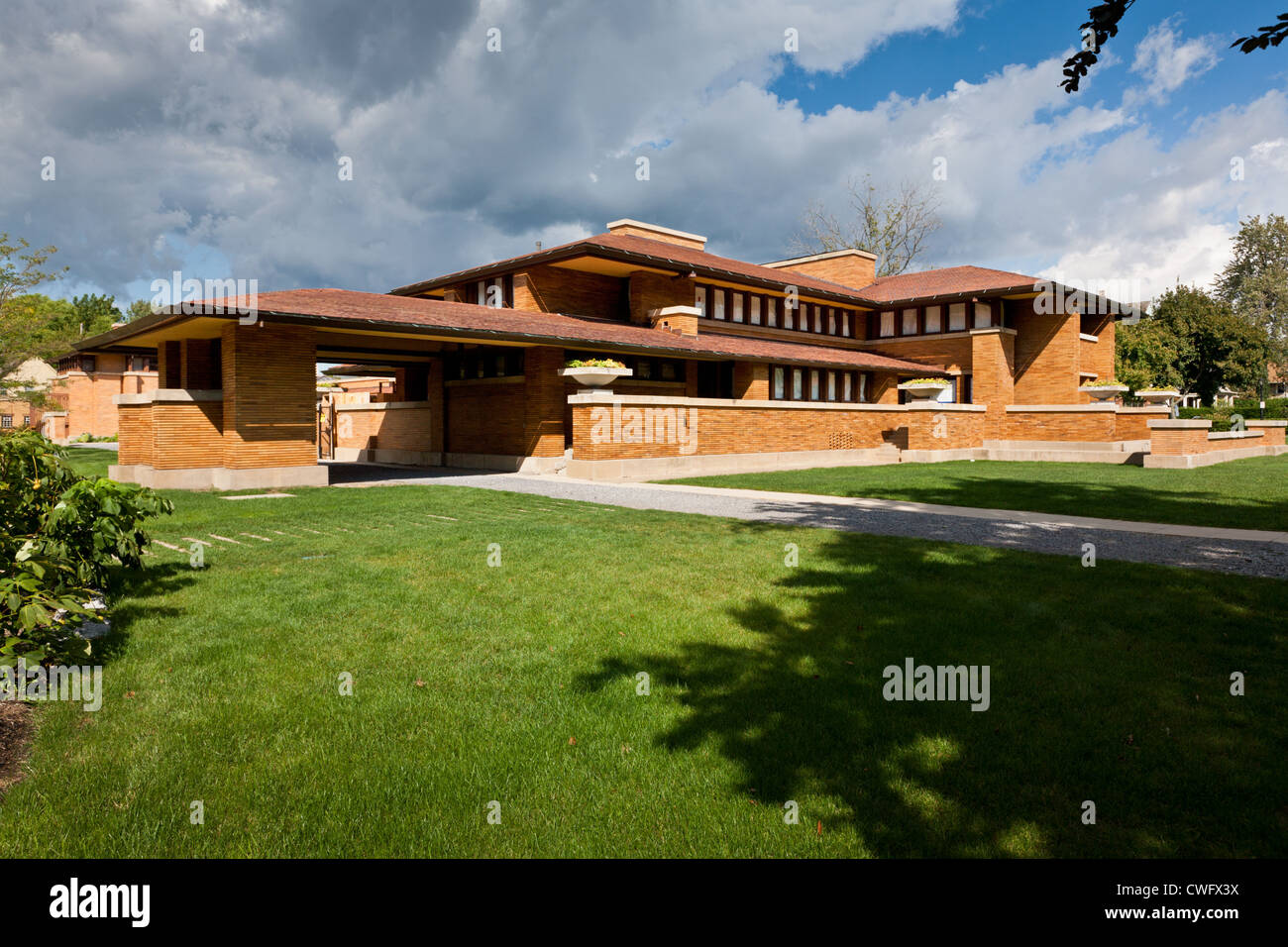 Darwin d martin casa di frank lloyd wright buffalo new for Frank lloyd wright piani per la casa
