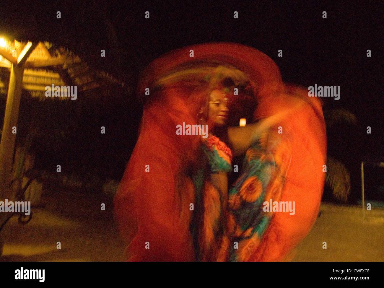 Folklore group in Mauritius Immagini Stock