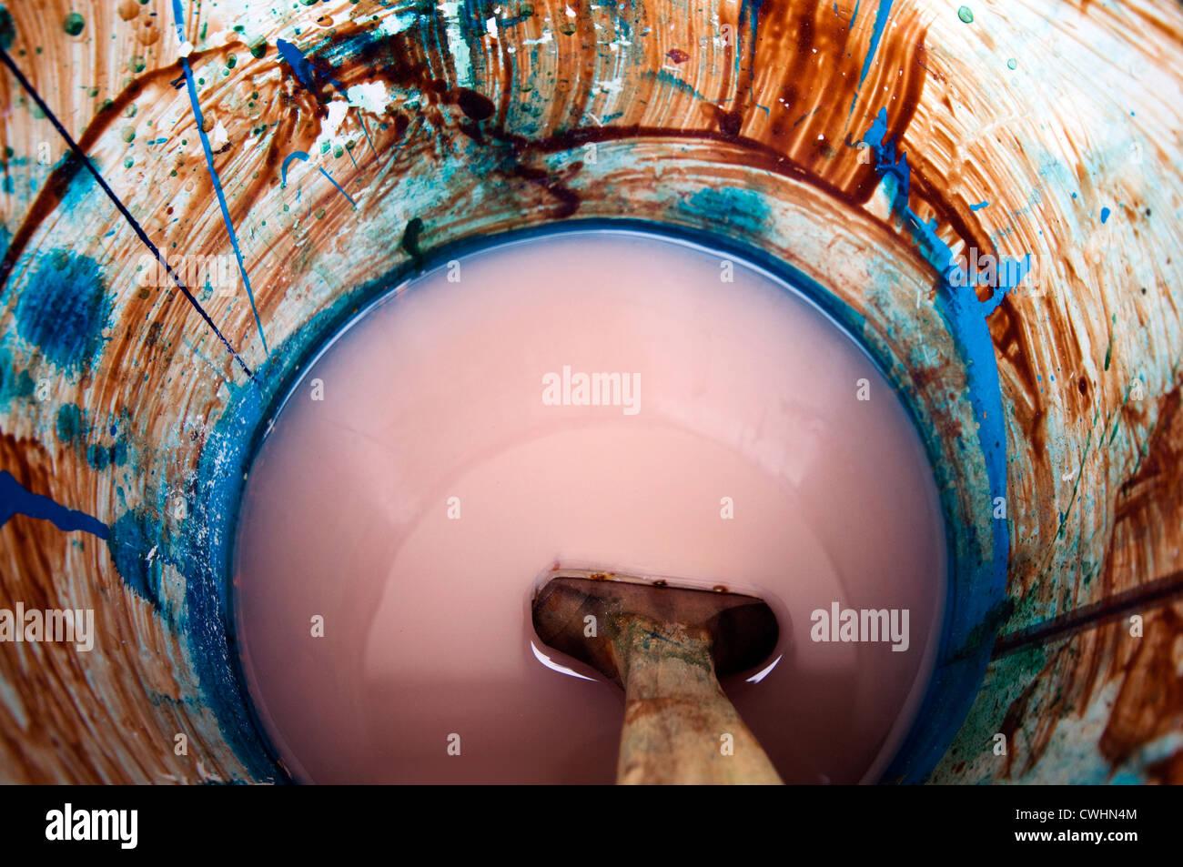 Colori,forme,pennello,la benna Immagini Stock