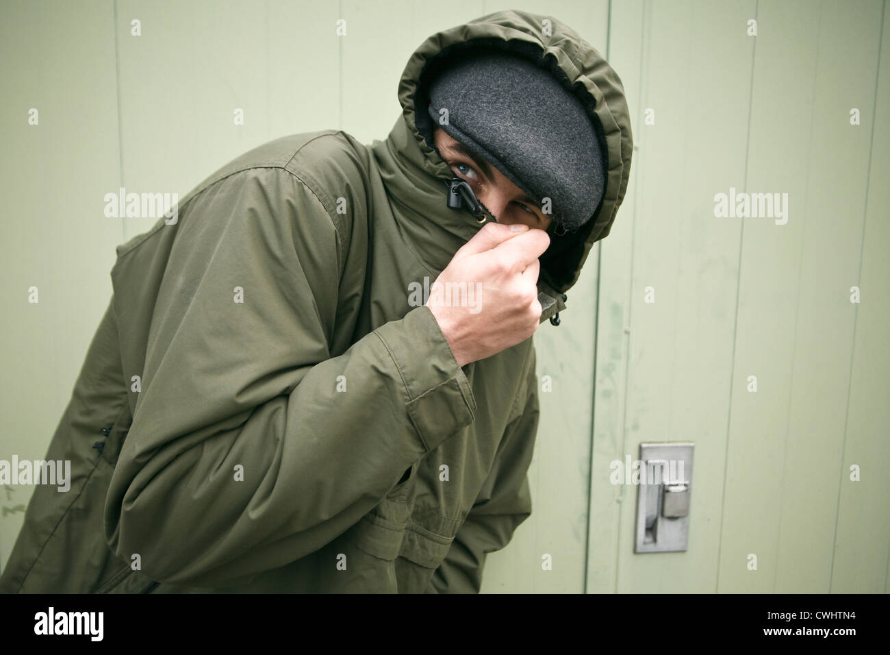 Ladro,mascherata,Identity Protection Immagini Stock