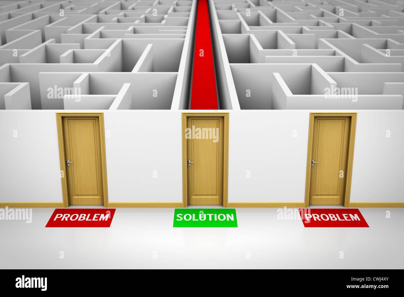 Concetto di soluzione Immagini Stock