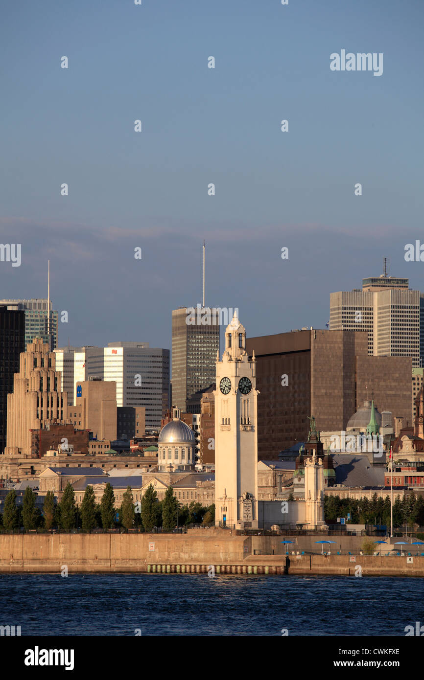 Canada Quebec, Montreal, skyline, St Lawrence River, Immagini Stock