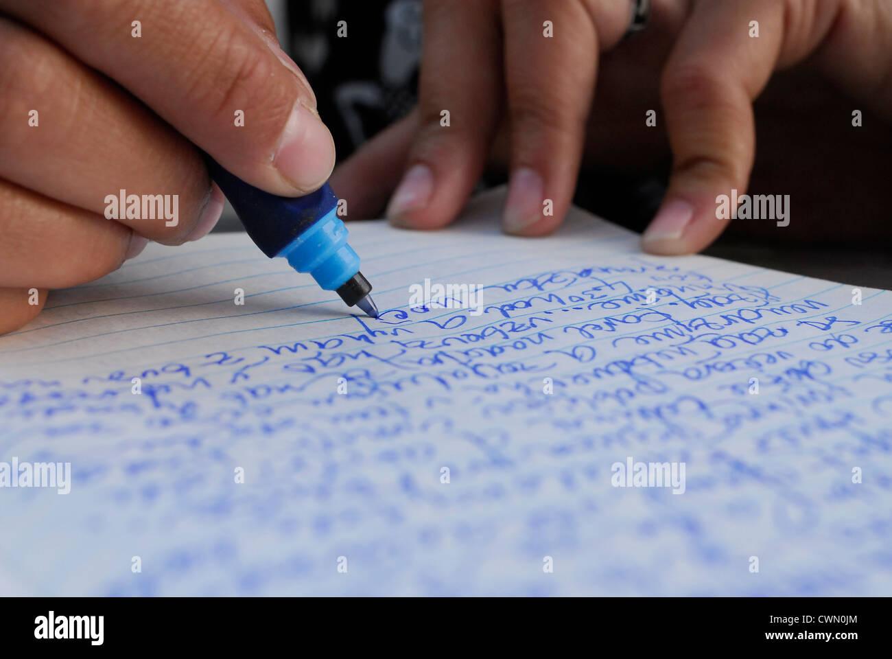 Scrittura a mano Immagini Stock