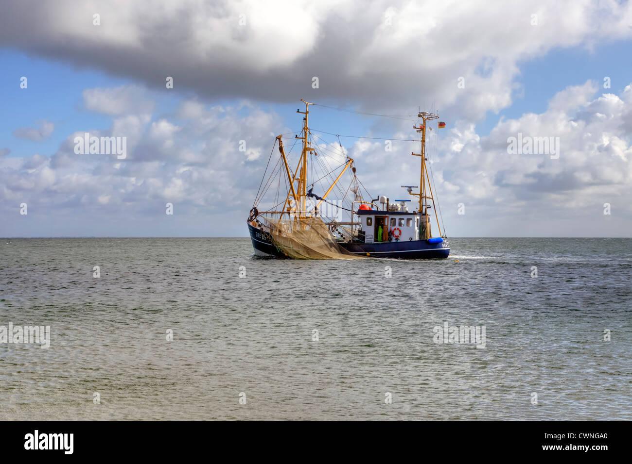 Trawler, Sylt, Mare del Nord, Hornum, Schleswig-Holstein, Germania Foto Stock