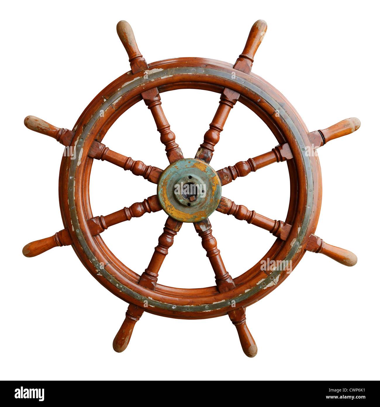 Ruota di navi Immagini Stock