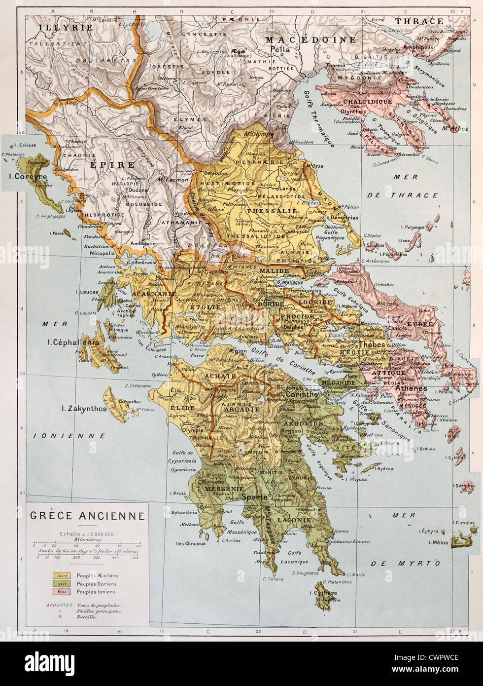 Cartina Della Grecia Antica In Italiano.Vecchia Mappa Della Grecia Antica Foto Stock Alamy