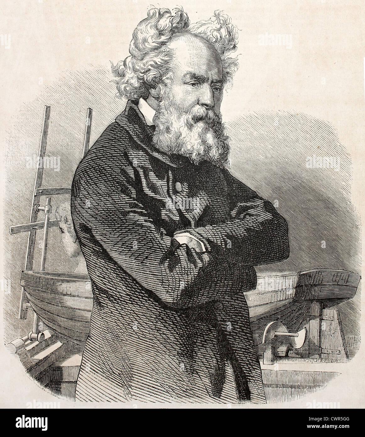 Pierre Louis Frederic Sauvage Immagini Stock