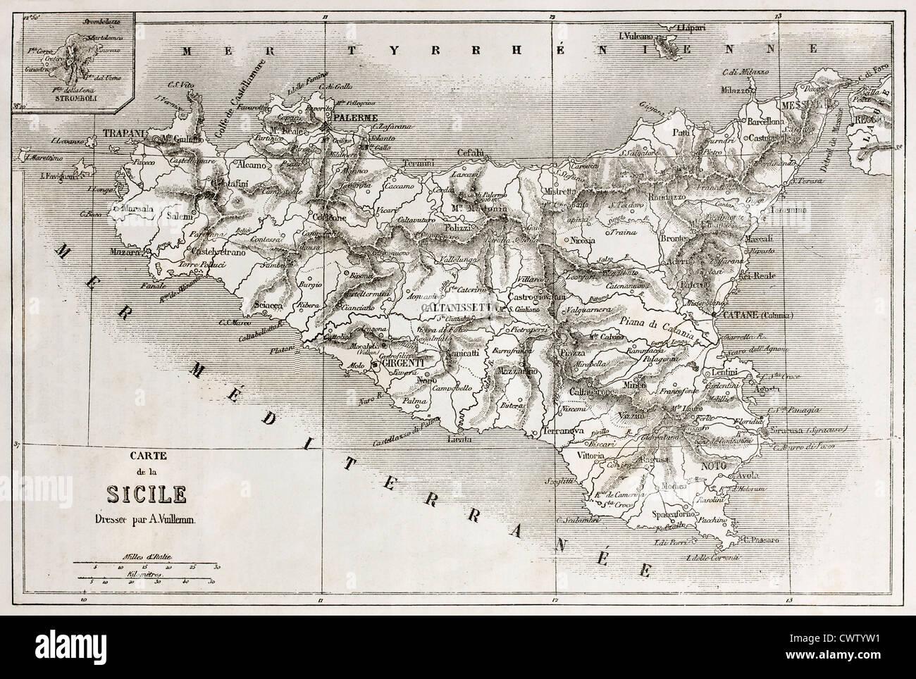 Cartina Sicilia Antica.Mappa Della Sicilia Immagini E Fotos Stock Alamy