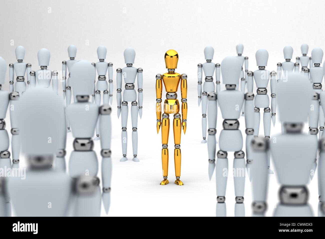 Concetto di individualità Immagini Stock