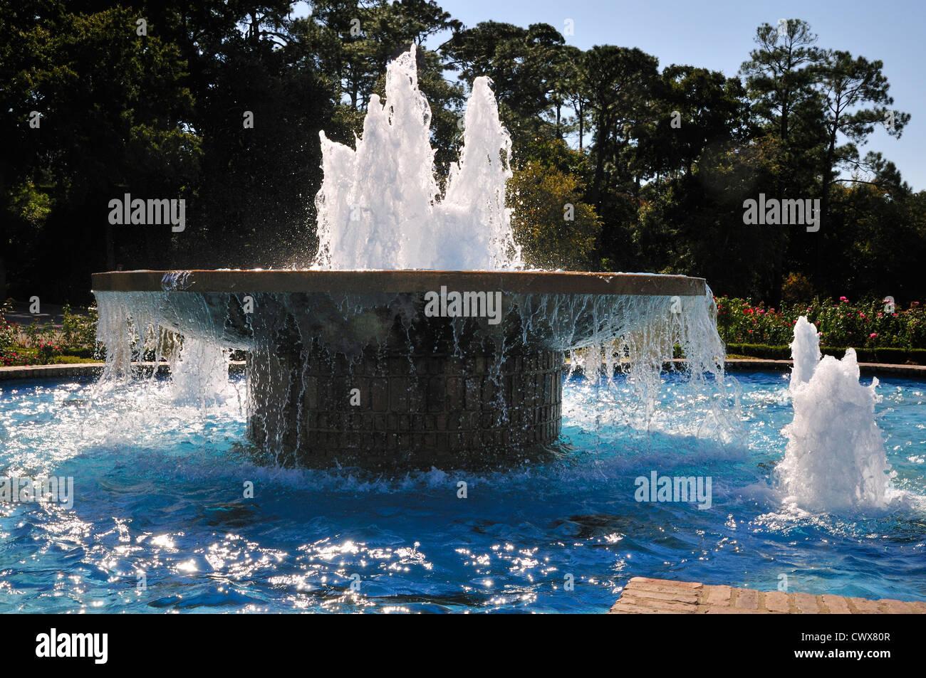 Fontana circolare presso il molo, Fairhope, Alabama Immagini Stock