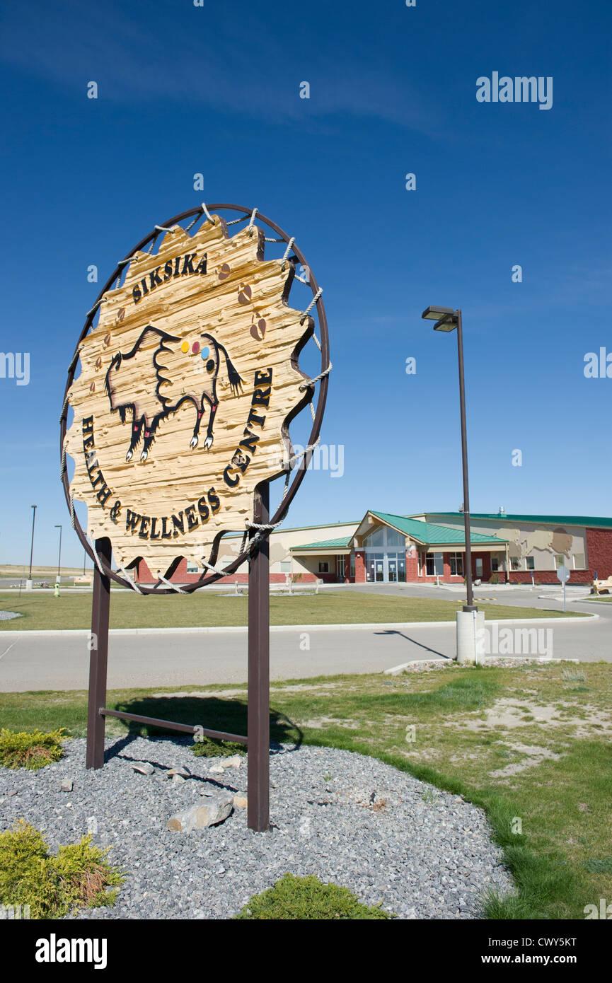 I Siksika la salute e il benessere degli animali , centro i Siksika Alberta Canada Immagini Stock