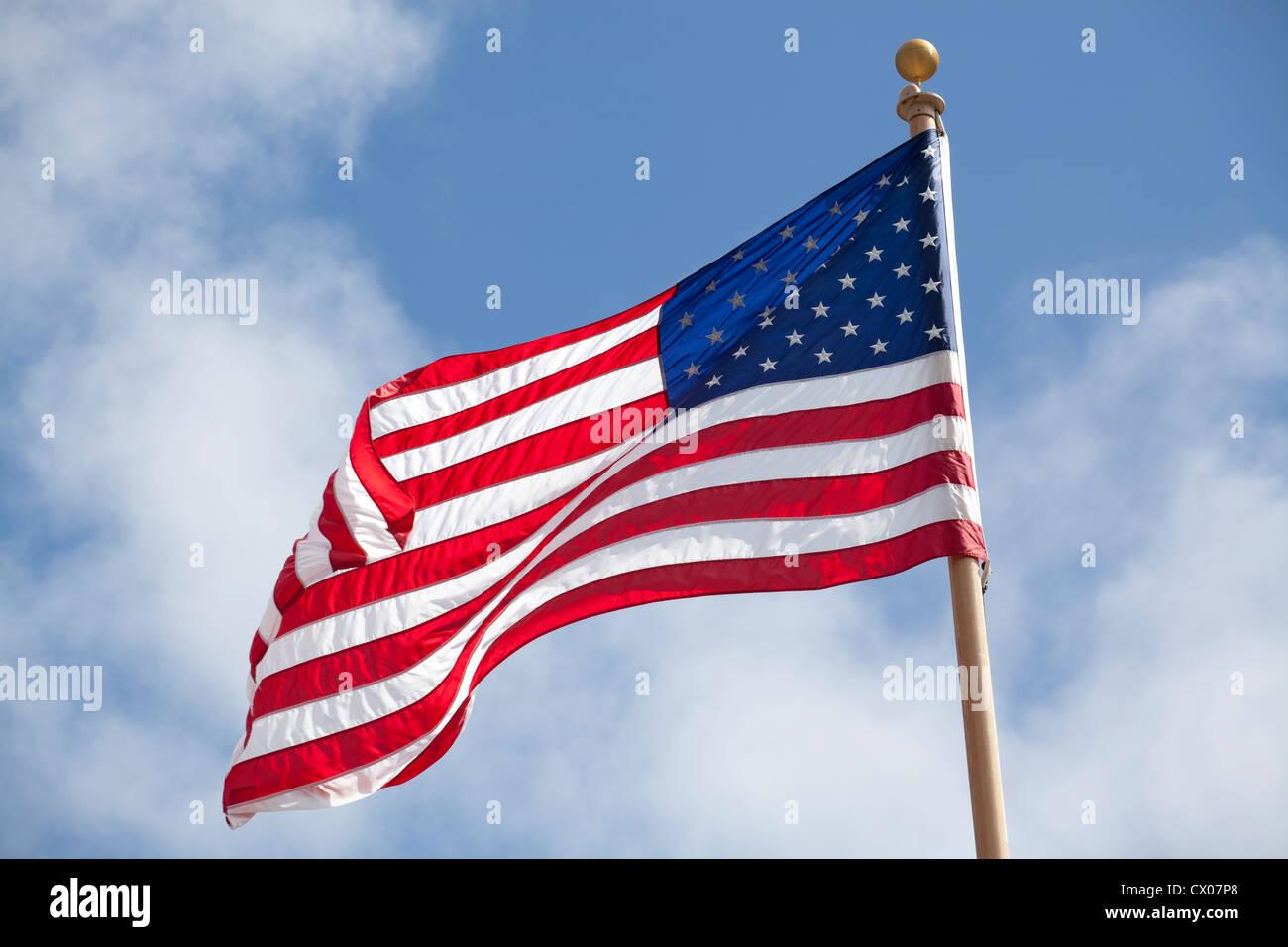 Stati Uniti bandiera nazionale Immagini Stock