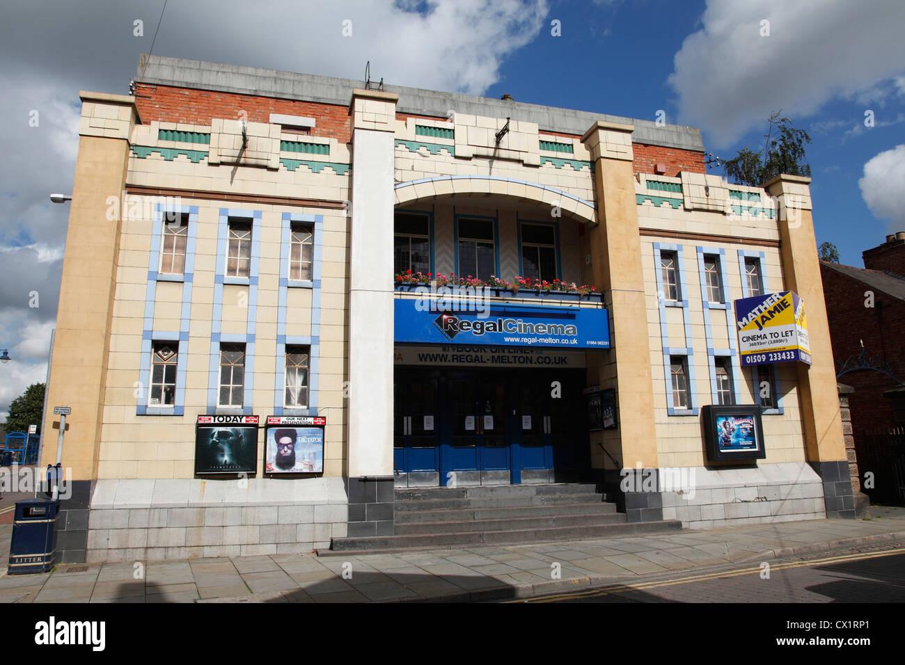 Il Regal Cinema, melton mowbray, leicestershire, England, Regno Unito Immagini Stock