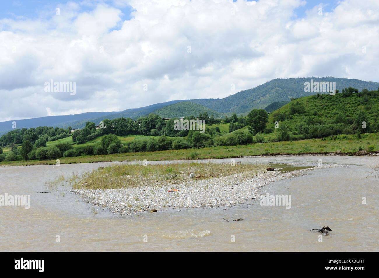 Paesaggio di tibetani area rurale nella contea di Shangri-La,nella provincia dello Yunnan in Cina Immagini Stock