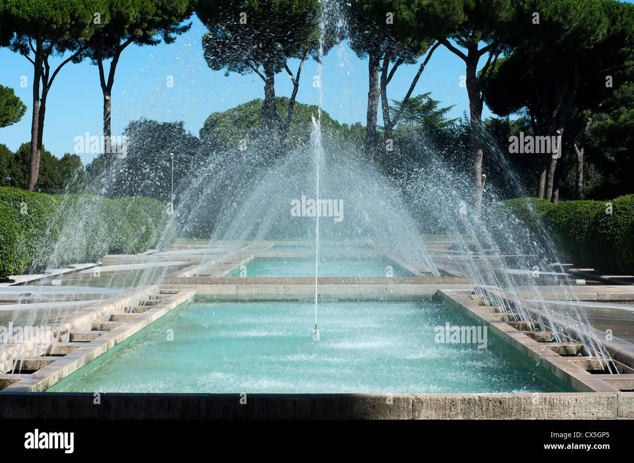 Fontana del palazzo degli uffici salone delle fontane for Uffici eur roma
